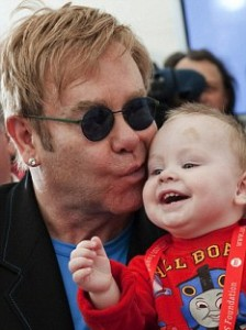 Elton John + David Furnish Turn to Celebrity Baby Adoption HQ: Africa