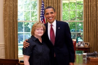 Shepard, Judy and Obama, Barack (Oval Office)