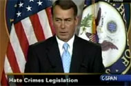 Rep. John Boehner Would Rather Screw American Troops Than Protect Gay Americans