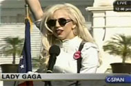 So What the Hell Was Lady Gaga Doing at the March Anyhow?