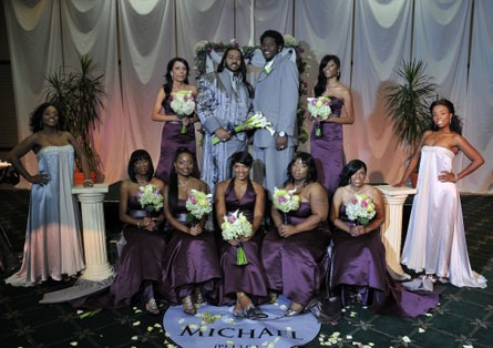 Michael + Jamil's Fabulous Wedding Erupts Into College Controversy of Gaudy Proportions