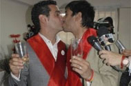 Meet Argentina's First Legally Married Gay Couple:  Jose Maria Di Bello + Alex Freyre