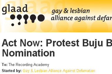Does Starting an Online Petition to Fight Buju Banton Qualify as GLAAD's Activism?