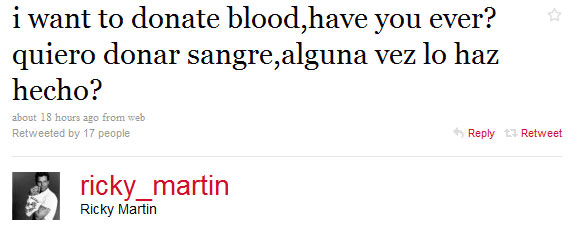 Who Wants to Break the News to Ricky Martin That Men Who Sleep With Man Can't Give Blood?