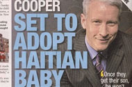 Adoption-Happy Anderson Cooper Outed by John Edwards' Favorite Tabloid