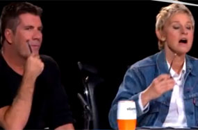So Did Ellen DeGeneres Strangle Simon Cowell On Day 1?