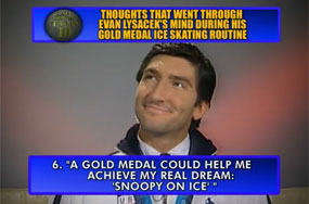 Johnny Weir Didn't Make It Into Evan Lysacek's Top 10 Thoughts