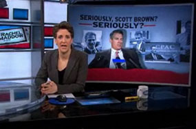 Scott Brown's Campaign Fundraising Fear Tactic That Rachel Maddow Might Run for Senate Is Short Lived