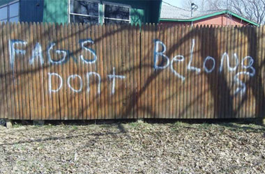 Tag the Campground With Anti-Gay Graffiti. That'll Show 'Em