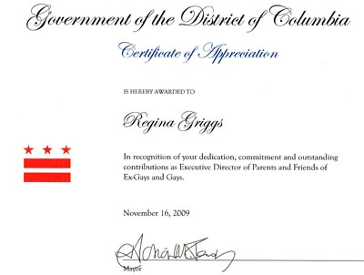 Why Is D.C. Mayor Adrian Fenty Honoring PFOX?