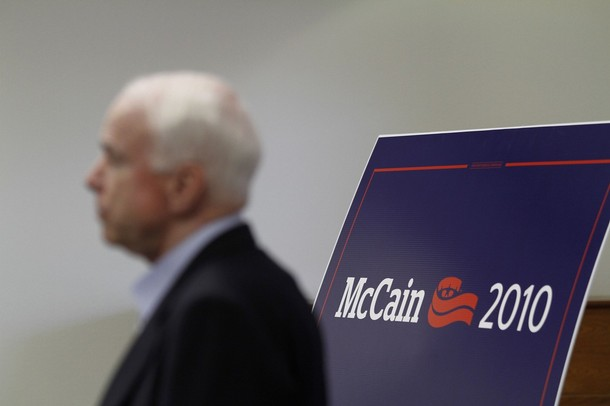 Gays Pissed Over Some Military Law Storm the Office of Fellow Veteran Sen. John McCain
