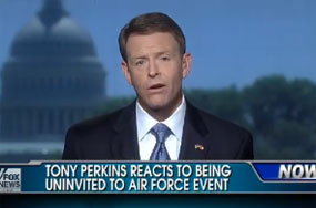Tony Perkins' Forehead Remains Furrowed Over Air Force Having a Problem With Hate Leaders