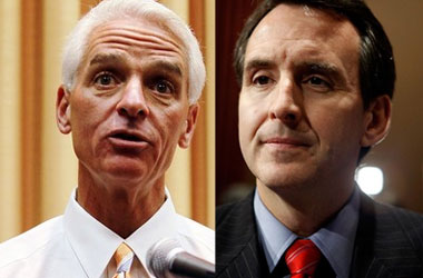 Tim Pawlenty and Charlie Crist Sittin' in a Tree, F-L-I-P-P-I-N-G (On DADT)
