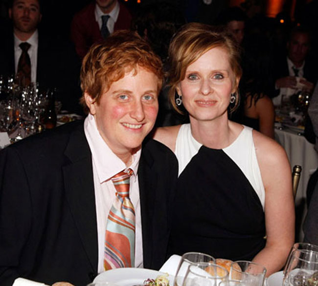 Cynthia Nixon + Christine Marinoni Welcome Newborn Son