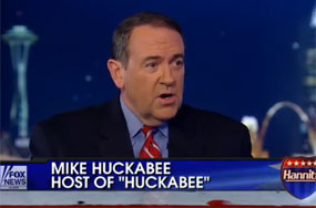 Mike Huckabee: Look Over There at That Activist Reporter Who Made Me Compare Gays to Drug Addicts!