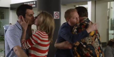 Modern Family's Gay Writers Split Over Decision To Have Cameron + Mitchell Kiss