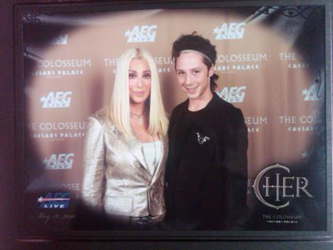 Shockingly, Neither Cher Nor Johnny Weir Overwhelmed the Camera With Body Glitter