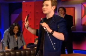 Chris Colfer's Surprising Dexterity With Long Pointed Objects