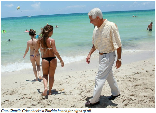 Gov. Charlie Crist Is Easing Up On His Restrictions of Gays Adopting, Checking Out the Ladies