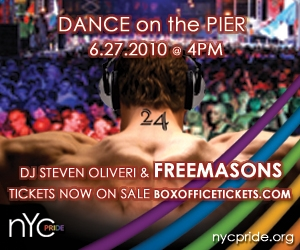 TODAY: NYC Pride's Dance on the Pier, Featuring The Freemasons