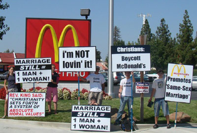 So Now McDonald's Is Hated By Anti-Gay Conservatives And the Gay Business Community?