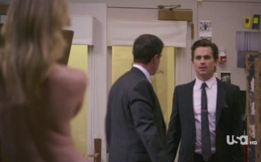 Matthew Bomer Can't Help But Scope Out a Pretty Blonde Gal
