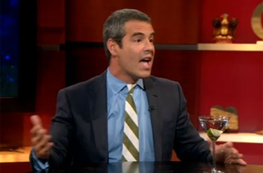 Andy Cohen's Bravo Talk Show Is Awful, But Not When He Takes It On the Road to Colbert Report