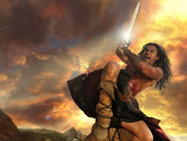 Conan's Jason Momoa Picks Up Where 300's Gerard Butler Left Off