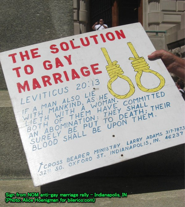 THE SHOT ? A National Organization for Marriage supporter at the group's ...