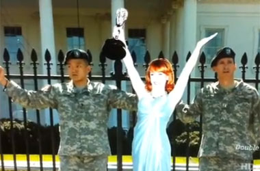 Kathy Griffin Didn't Go To the White House With Dan Choi To, Uh, Protect Her Image