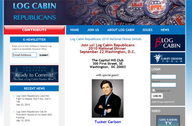 Log Cabin Republicans Enlist Neocon Pundit Tucker Carlson To Drum Up Cash