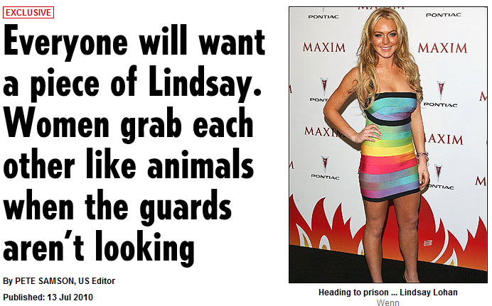 Are We Seriously Speculating About a Possible Prison Rape of Lindsay Lohan?