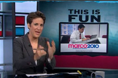 Marco Rubio Relies on Rachel Maddow's Attacks To Fan Flames of Support