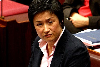 Penny Wong, Australia's Despicable Lesbian Senator Suddenly Slamming Gay Marriage