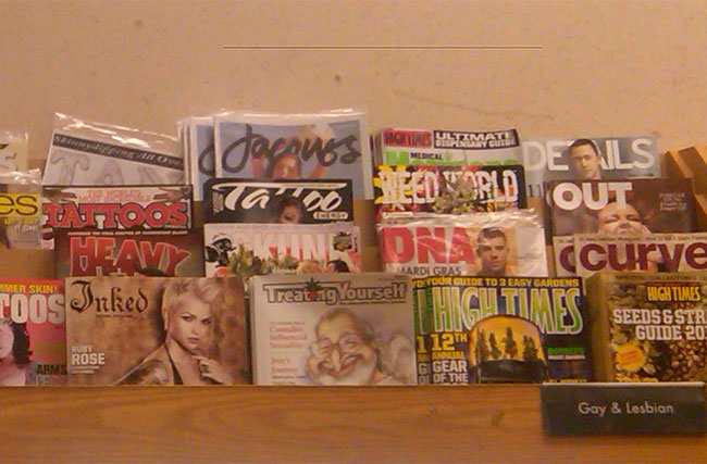 Reader Surprised To Find Gay Magazines Lumped In With Drugs, Porn at Local Borders