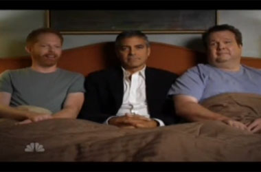 Who Needs Modern Family's Gay Kiss When There's a George Clooney 3-Way?