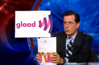 GLAAD Report Forces Stephen Colbert to Realize: He's Gay