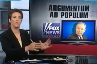 How Many Logic Fails Can Rachel Maddow Find In Bill O'Reilly's Monologues?