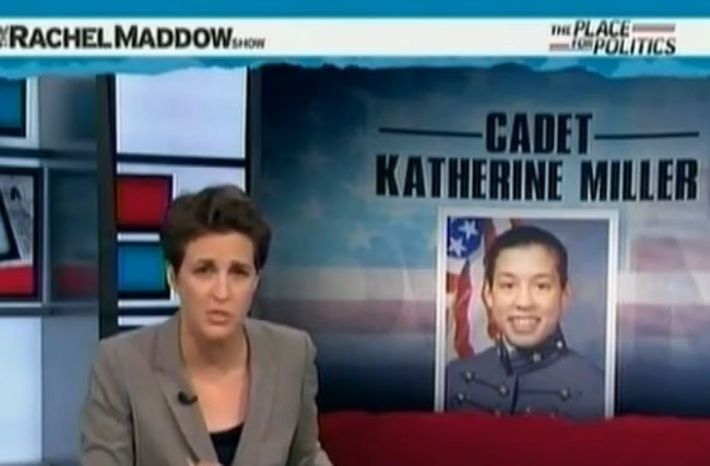 Rachel Maddow Is Running the Most Public Underground Railroad for DADT