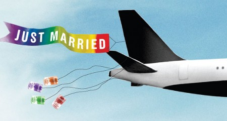 In Red Eye Wedding Over Canada, Virgin America Beats Scandinavian Air To First Gay In-Flight Ceremony