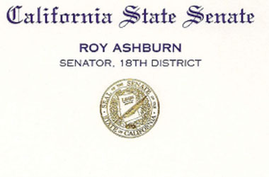 CA Sen. Roy Ashburn Demands Schwarzenegger Keep Only One Type of Marriage In California