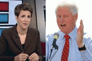 Clearly There Is Major Sexual Tension Between Bill Clinton + Rachel Maddow