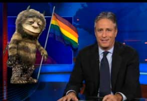 How The Daily Show Comes Up With Gay Jokes