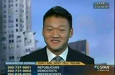 Dan Choi Gets a Chuckle Out Of C-SPAN Caller's Gay Barracks Sex Questions
