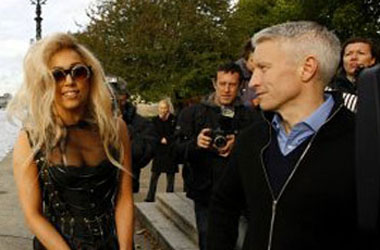 Anderson Cooper Uses Business Card To Fulfill Lady Gaga Fanboy Fantasy