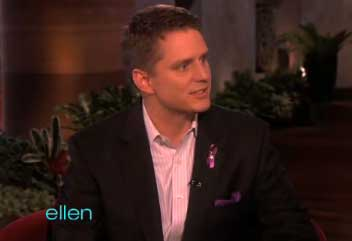Ellen DeGeneres + Joel Burns Join The The Homos In Wearing Purple