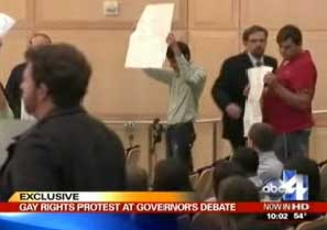 Utah Governor Debate Briefly Turned Into Mostly Ignored Gay Protester Sideshow