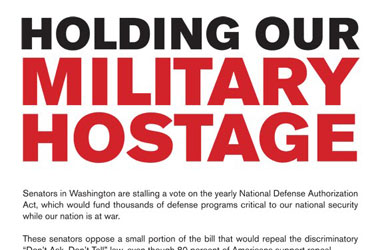 Human Rights Campaign Releases Most Ironic DADT Message Yet
