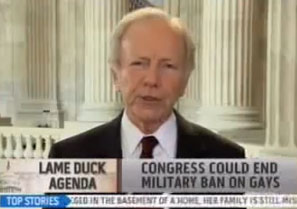 Joe Lieberman Wants Military's Gay Sex Secrets Released ASAP (So He Can Whisper Them To John McCain)