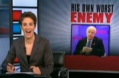 Rachel Maddow: John McCain Has Rendered His Political Positions Completely 'Incoherent'